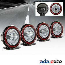 """4X 7"""" HID Blk Off Road Lights Flood Rally Fog Driving Lamps For Suv/Baja/Pickup"""