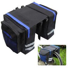 Bike Bicycle Cycling Rear Seat Double Panniers Bag Trunk Rack Pack Waterproof