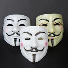 1Pc  white Party Mask V For Vendetta Anonymous Film Guy Fawkes Face Mask Costume