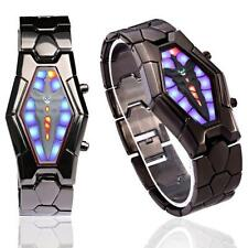 Cool Lava Style Iron Samurai Black Bracelet LED Watch Inspired Watch  US STOCK