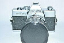 Minolta SRT 200 35 mm Camera w Albinar ADG Zoom 1:3.5-4.5/28-80 mm TESTED (M-21)