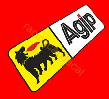 "8.5""216mm Agip decal sticker for motor bike cycle vintage gtv 6 fiat 500 ferrari"