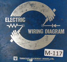 Mazak  Electrical Circuit Diagrams, QS20 Chucker Universal 4 Axis Manual 1983
