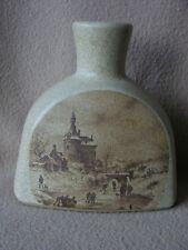 """CONTINENTAL Germania occidentale Ceramica Lampada base """"granito"""" con città scena invernale"""