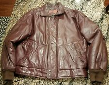 MEMBERS ONLY Cafe Racer Leather Motorcycle Jacket Coat Red Burgundy 40 Vintage