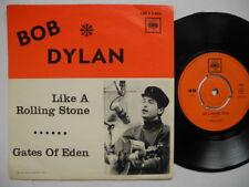 "BOB DYLAN Like A Rolling Stone / Gates Of Eden 45 7"" single 1965 Sweden"