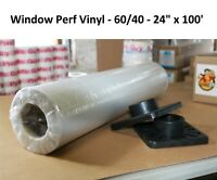 "Perforated Window Decal Mount Adhesive Vinyl One-Way Vision (60/40) 24"" X 100'"