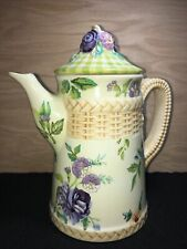 The Cottage Rose Collection Tracy Porter Hand Painted Ceramic Large Teapot