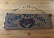 Crabs for Sale Kitchen Sign / Home Decor Beach Ocean Life Brand New