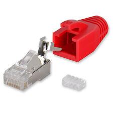 10 x Yonix ® Netzwerk Stecker RJ45 Cat 7 / 6A vergoldet Einführhilfe NSY-738RO