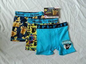 Detective Pikachu Boxer Briefs UNDEROOS Underwear Compression Pokemon 3Pc Boys