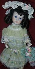 "Antique Reproduction Bru Jne Full Body Porcelain 14"" Vintage Doll Handmade"