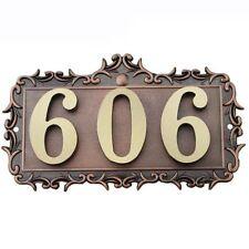 b72a9cf515d 3Number House Apartment Door Number Letter Address Plaque Metal Copper  Custom S2