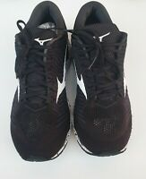 Mizuno Mens Size US 12 Black Navy Blue Wave Knit S1 J1GC182501 Running Shoes