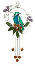 Birds and Butterflies stained glass suncatcher