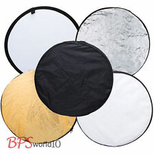 """43"""" 110cm Photo Photography Collapsible Light Reflector 5in1 Portable Reflector"""