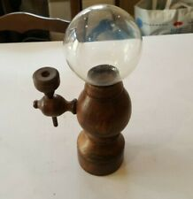 Lace Makers Globe Lamp Magnifying Candle Stand Hand Turned Wood