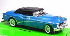 BUICK SKYLARK 1953 WELLY 24027 1:24 BLUE OPENING BONNET/HOOD DOORS TOP UP