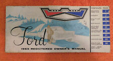 1965 Ford Custom Galaxie 500 XL LTD Country Sedan Squire ORIGINAL OWNERS MANUAL