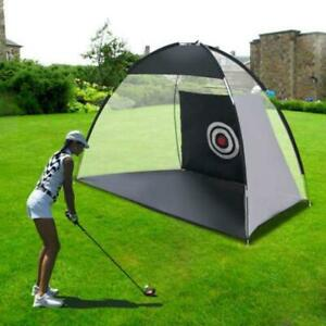 Foldable Golf-Driving Cage Practice Hitting Net Indoor Outdoor Trainer Black US