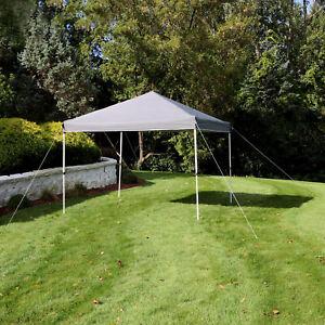 Sunnydaze 10x10 Foot Standard Pop Up Canopy with Carry Bag - Gray