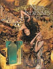 ▬► PUBLICITE ADVERTISING PARFUM PERFUME Nuits Indiennes Jean Louis Scherrer 1994