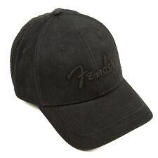 NEW Genuine Fender Blackout Baseball Hat - BLACK, 910-6645-000