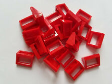 Lego Red Tile Mod 1x2 with Handle, Part 2432, Element 243221, Qty:25 - New