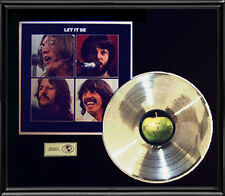 BEATLES LET IT BE GOLD RECORD PLATINUM SILVER  DISC LP UK ALBUM RARE ORIGINAL!