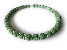 A Sign 💚 Irish Green N°2 💚 Halskette/Kette Lava 12mm Kristall-Elemente Magnet