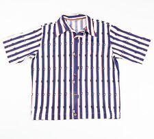 Camisa de seda con patrón Vintage | Mujer con Patrón a Rayas Raya Retro L |
