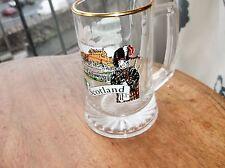 COLLECTABLE GILDED GLASS TANKARD SCOTLAND SOUVENIR CASTLES PICTURES EX COND