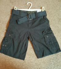 Uproar Boy's Cargo Shorts, Solid Navy, sz.  10