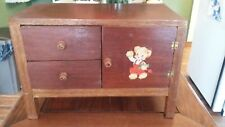 """Vintage Primitive Hand-made Wooden Childs Toy Doll Dresser/Drawers 8""""x12"""" Decal"""