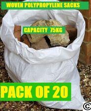 More details for 20 x tough woven polypropylene builder rubble sacks bags. ** ultra strong **