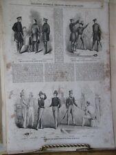 VIntage Print,VARIOUS DRESS,US Navy,Gleasons,1850s