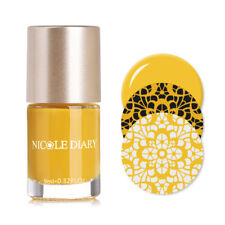 9ml NICOLE DIARY Nail Art Stamping Polish Yellow Stamp Printing Varnish Manicure
