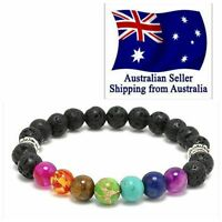 7 Chakra Healing Beaded Bracelet Natural Lava Stone Diffuser Bracelet Jewelry hi