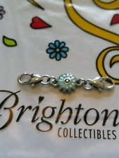 NEW Brighton light blue flower clip clasp charm extender 2 inches