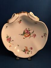 SEVRES PORCELAIN Hand-Painted Shell Shaped Dish Double L Mark 1772 VINCENNES