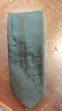 Vintage Dark Green Textured Wide Lds Mens Necktie Free Shipping