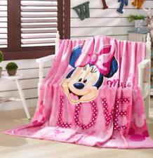 cute minnie pink bowknot fuzzy fleece quilt blanket rug warm carpet 150x200cm