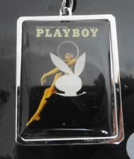 Playboy Key Ring Darine Stern First Solo African American Cover Girl 1971 NEW