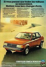 Publicité advertising 1978 Chrysler Simca Horizon