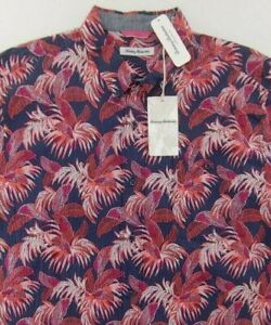 NWT $135 Tommy Bahama SS Fenua Fronds Floral Shirt XLT Mens Seersucker NEW
