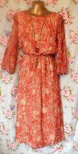 ASOS Cold Shoulder Dress Orange Midi Size 10