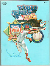 1981 World Series Program Signed by Paul Blair Auto COA