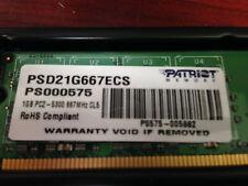 Patriot Memory PSD21G667ECS 1GB  PC2-5300 667MHz  CL5 DDR2 PS000575
