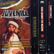 JUVENILE UNCOVERED / EMINEM EUROPE / LINKIN PARK FRAT PARTY +  VHS VIDEOTAPE LOT