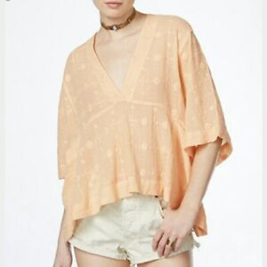 Free People Amber Skies Cotton Blouse Size XS MSRP: $128.00
